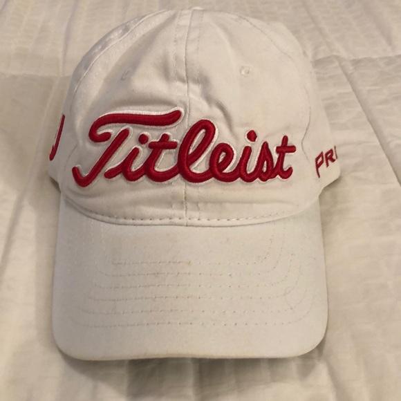 White Titleist Golfers Hat
